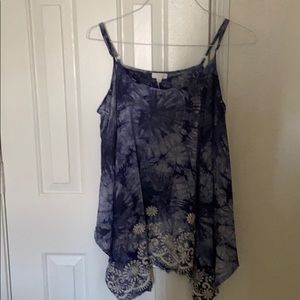 CLEARANCE: Tie dyed embroidered print flare @bott